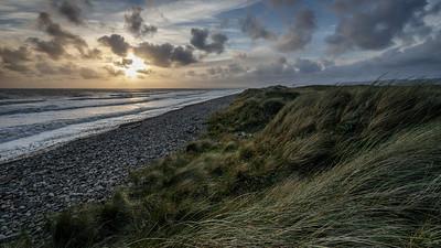 Coast view at sunset
