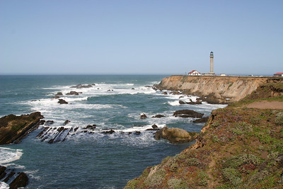 Point Arena and lighthouse, California