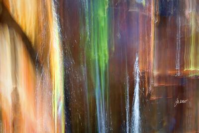 Impromptu waterfall alongside Old Highway 40, Cisco Grove, Ca.  Blurred