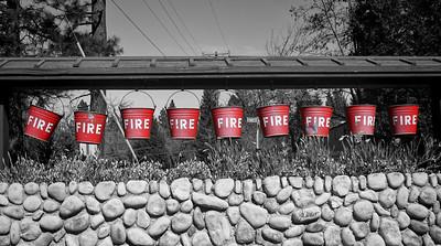 Fire buckets display