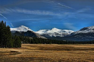 Tuolumne Meadow, Yosemite, CA  First snow of the season.