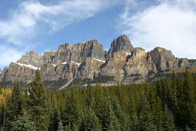 Castle Cliffs from the Ice Fields Highway.