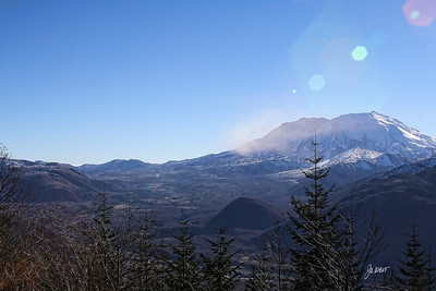Mt. St. Helens with sun flare.