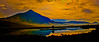 "Sunset ""colorized"" view of the morning picture of Peanut Lake in Crested Butte Colorado"