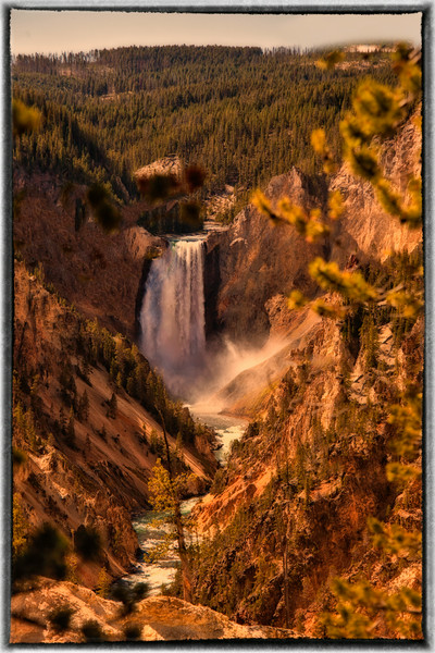 Fall Time at Artist Falls, Yellowstone
