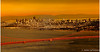 Sunset over San Francisco and Golden Gate