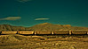 Train traveling through Utah against the desert. Colorized in Nik Software.