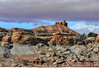 Beautiful rock formation Utah along I 70 from one of the pullouts