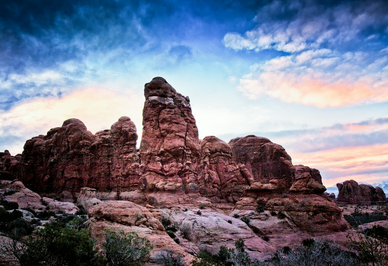 Early morning Arches National Park