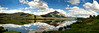 Panoramic view of Peanut Lake, Crested Butte Colorado