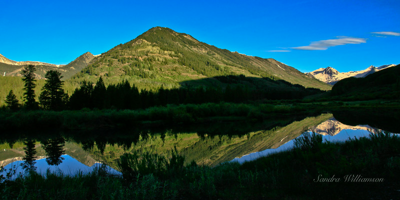Nicholson Lake, Crested Butte, Co early in the morning (before 7 a.m.)