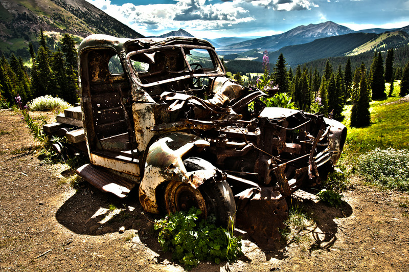Up at 11,000 feet left to rust.