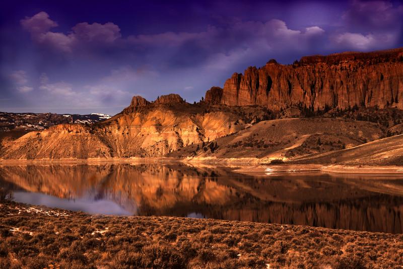 Blue Mesa Cliffs between Gunnison and Montrose, Curancanti National Park