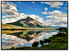 Mt. Crested Butte from Peanut Lake NW of the town.