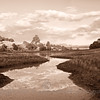 Los Brazos---between water and sky (sepia)
