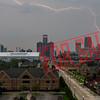 Detroit struck by lightning.