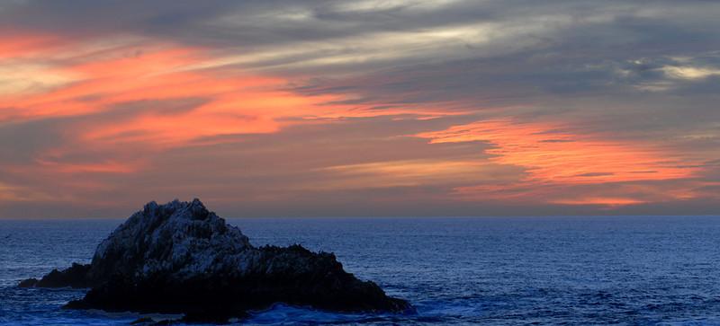 Sunset at outer Bird Island