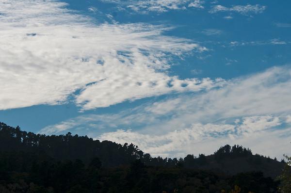 Clouds over Hacienda and the Santa Lucias