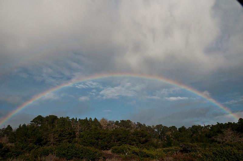 Rainbow over Whalers Knoll.