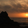 Sunset from Castle Rock at Carmel River State Beach