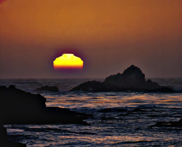 Melting Sun at Sea Lion Rocks