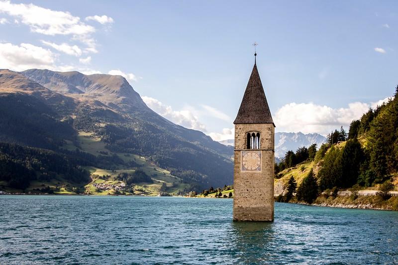 Reschensee, Italien.