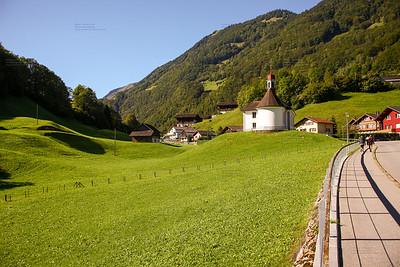 lake lungern Switzerland - famous fishing lake in Switzerland