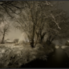 Sneeuwlandschap in de nacht/Snowy landscape at night