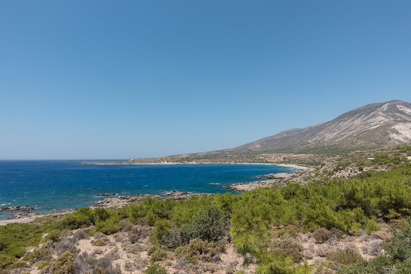 Kustlijn zuidwestelijk Kreta.