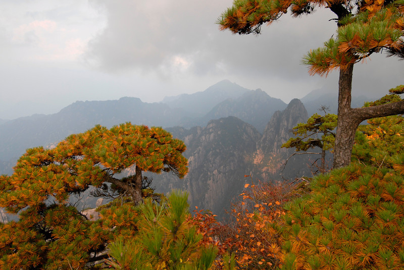 Yellow mountains, China