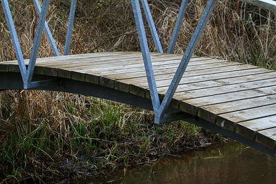 En overgangsbro ved Ejstrup sø