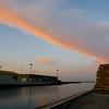 Køge Havn med sommer solnedgang