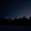 ISS (International Space Station) över toppstugan i Kläppen, Dalarna