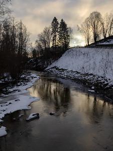 Lierelva ved Grøttegata Grøtte, Lier 3.1.2019 Canon 5D Mark IV +  EF 17-40mm f/4L USM @ 32 mm