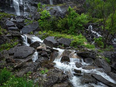 Honganvikfossen / Honganvik Falls Saudafjorden, Rogaland 21.7.2020 Canon 5D Mark IV + EF 17-40mm f/4L USM @ 19 mm