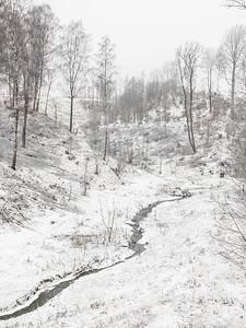 Uthugget bekkedal, Vestsideveien Lier 26.12.2020