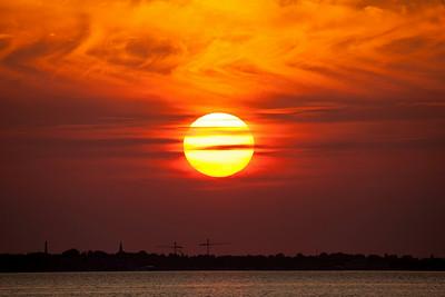 Solnedgang / Sunset Tryggelev Nor, Langeland, Danmark 17.7.2014 Canon EOS 5D Mark II + Tamron 150 - 600 mm 5,0 - 6,3