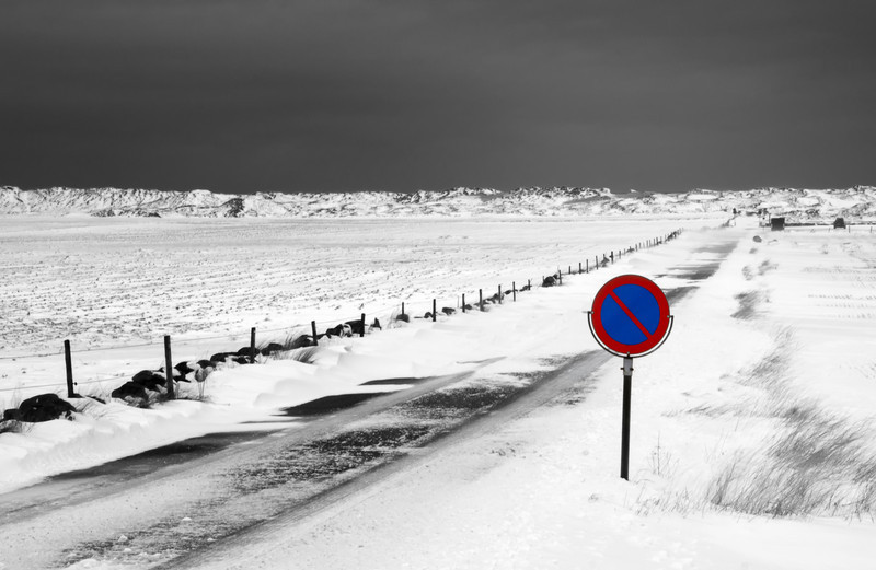 Sele, Klepp, Rogaland. (Selective Color).