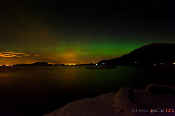 Nordlys i Ølen 24 jan 2012