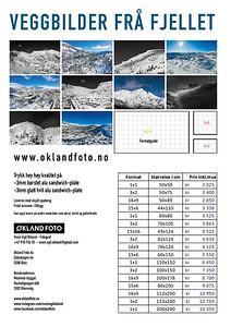 Veggbilder frå fjellet prisliste