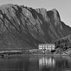 Raten på Elgsneset, nordvest over frå Harstad (på Hinnøya), sein julikveld.<br /> (Magic summer's night at Elgsneset, Hinnøya)