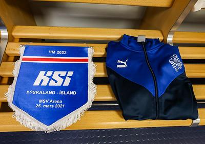 Leikur í undankeppni HM 2023 25. mars 2021. Mynd - Hafliði Breiðfjörð.