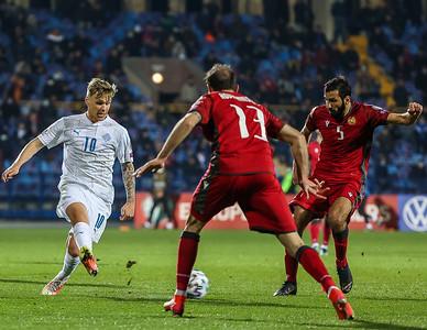 Leikur í Þjóðadeild UEFA 15. nóvember 2020. Mynd - Guðmundur Svansson.