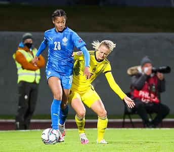 Leikur í undankeppni EM 2022. Mynd - fotbolti.net - Hafliði Breiðfjörð.