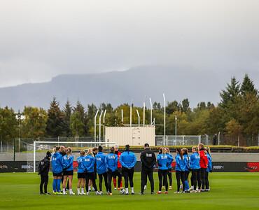 Leikur í undankeppni EM 2022. Mynd - fotbolti.net - Hafliði Breiðfjörð