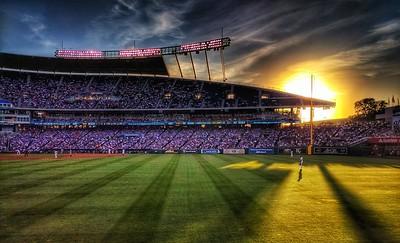 Sunset at Kaufman Stadium
