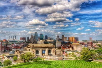 Kansas City - Skyline with Clouds