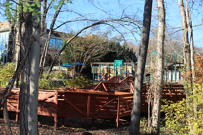 Students in preschool, junior kindergarten, and kindergarten enjoy play time on their own jungle gym. A tricycle track also compliments this outdoor play area.