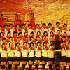 Scene from a school choir with a National Day theme.