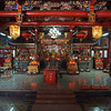 View of main altar in a Yun Long Village temple (1 of 2).